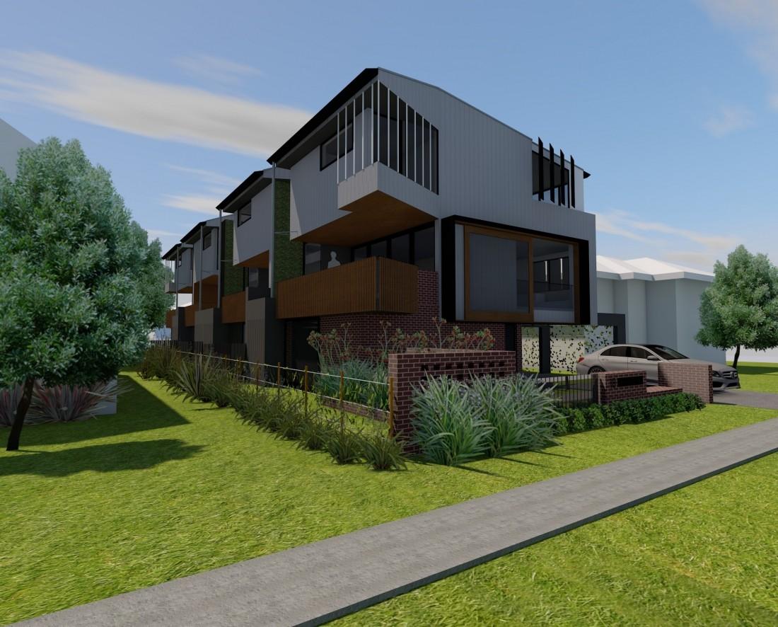 SMALLMAN STREET TOWNHOUSES- Reddog Architects Award Winning Architects Brisbane