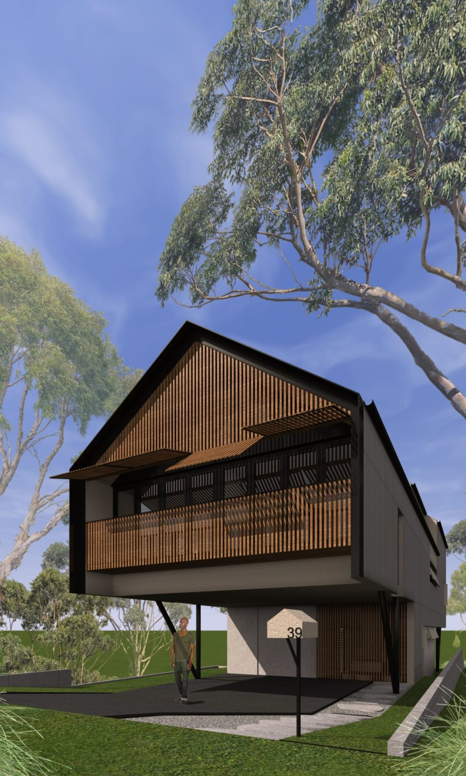 HILL HOUSE- Reddog Award Winning Architects Brisbane